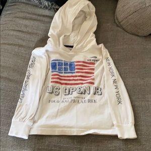 Ralph Lauren long sleeved hooded tshirt